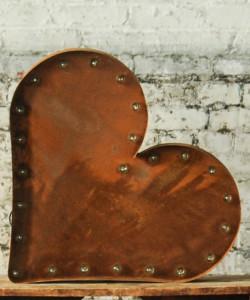 Metal Lighted Heart